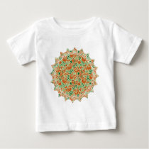 Colorful Paisley Pattern Baby T-Shirt
