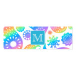 Colorful Paisley Pattern with Custom Monogram. Business Card