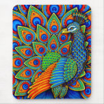 Colorful Paisley Peacock Vertical Mouse pad