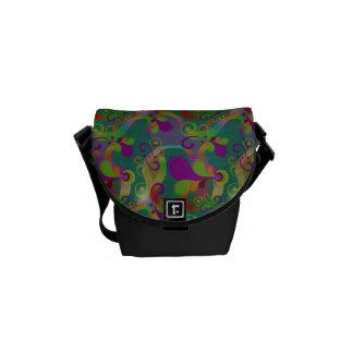 Colorful Paisley Swirls Print Accessory Bag