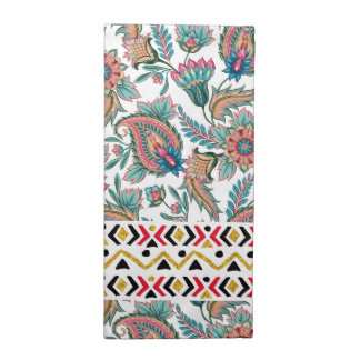 Colorful Paisley & Tribal Geometric Accents Cloth Napkin
