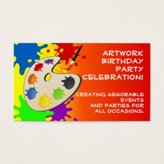 Colorful Palate Art Party Business Card