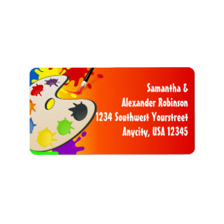 Colorful Palate Art Party Address Label