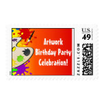 Colorful Palate Art Party Postage