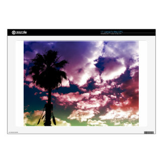 Colorful Palm Sky Laptop Skin