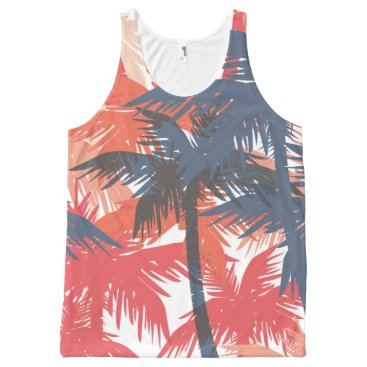 all_summer_products Colorful Palm Tree Background All-Over Print Tank