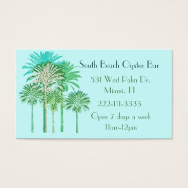 Professional Business Colorful Palm Trees Business Card