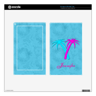 Colorful Palm Trees Kindle Fire Skin