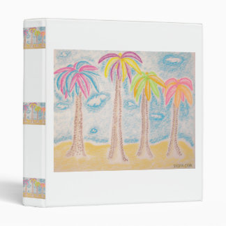 Colorful Palms-binder 3 Ring Binder