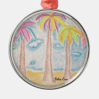 Colorful Palms-premium round ornament
