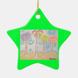 Colorful Palms-star ornament