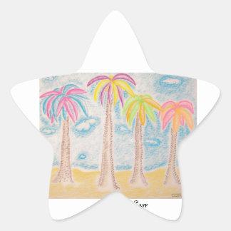 Colorful Palms-star sticker