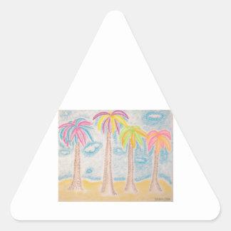 Colorful Palms-triangle sticker
