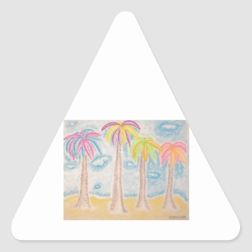 Colorful Palms-triangle sticker