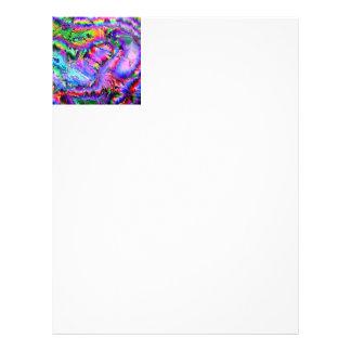 colorful palpitations customized letterhead