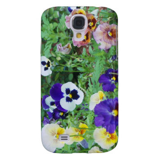 Colorful Pansies Galaxy S4 Cover