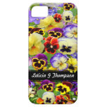 Colorful Pansies  ~  iPhone 5 Barely There Case iPhone 5 Covers