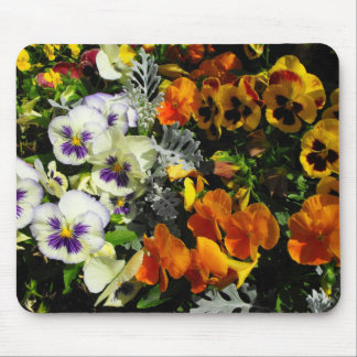 colorful pansies mouse pad