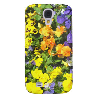 Colorful pansy flowers, yellow, orange, purple... galaxy s4 case