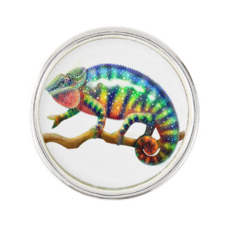Colorful Panther Chameleon Lapel Pin