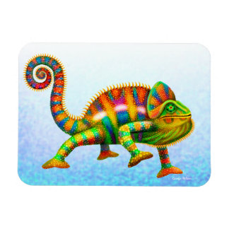 Colorful Panther Chameleon Magnet