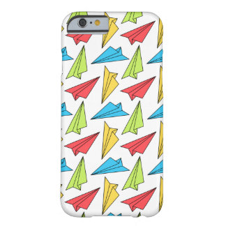 Colorful Paper Airplanes Pattern Barely There iPhone 6 Case
