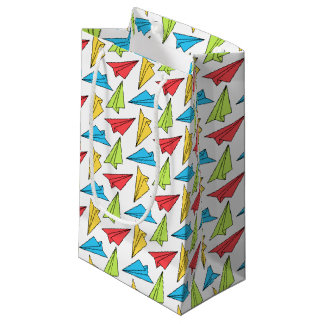 Colorful Paper Airplanes Pattern Small Gift Bag