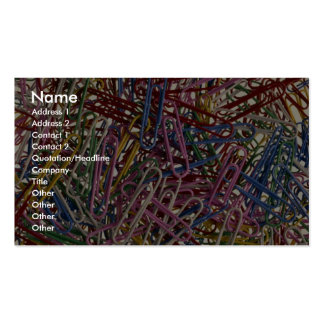 Colorful paper clips for fastening papers together Double-Sided standard business cards (Pack of 100)