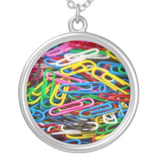 Colorful paper clips pendant