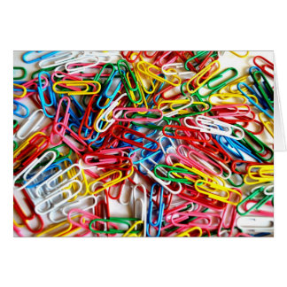 Colorful Paper Clips Office Supply Gifts Card