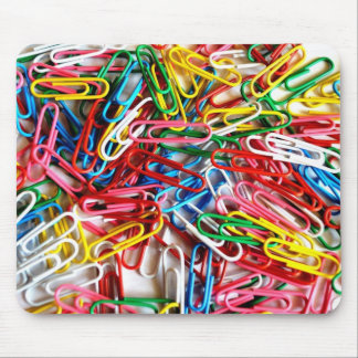 Colorful Paper Clips Office Supply Gifts Mouse Pad