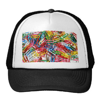 Colorful Paper Clips Office Supply Gifts Trucker Hat