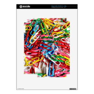 Colorful paper clips on white background. iPad 2 skins