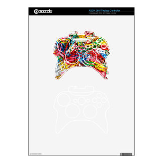 Colorful paper clips on white background. xbox 360 controller decal