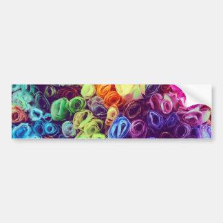 Colorful Paper Flowers Photo Bumper Sticker