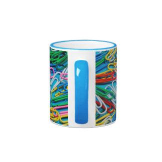 Colorful paperclip design coffee mug