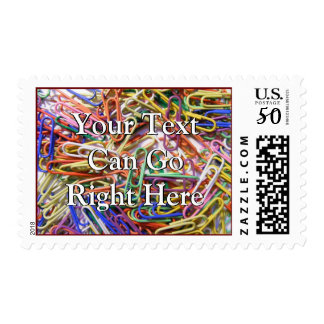 Colorful Paperclip Postage