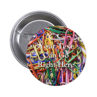 Colorful Paperclips Button