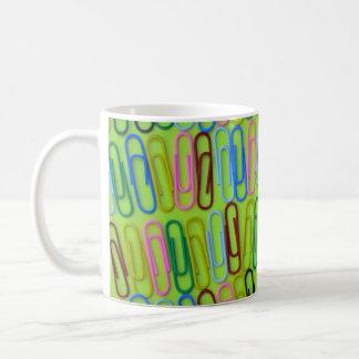 Colorful paperclips pattern coffee mug