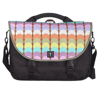 Colorful Papercraft : Punch Dot Patchwork Laptop Computer Bag