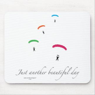 Colorful Parachutes Mouse Pad