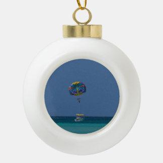 Colorful Parasailing Ceramic Ball Christmas Ornament