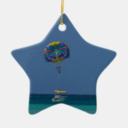 Colorful Parasailing Ceramic Ornament