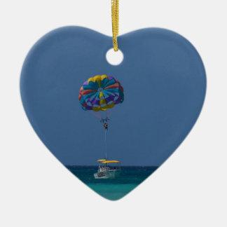 Colorful Parasailing Ceramic Ornament