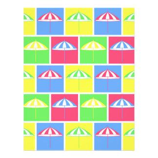 "Colorful parasol pattern 8.5"" x 11"" flyer"