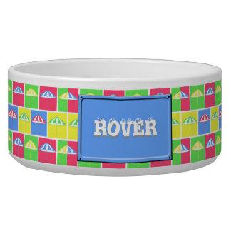 Colorful parasol pattern bowl