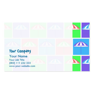 Colorful parasol pattern Double-Sided standard business cards (Pack of 100)