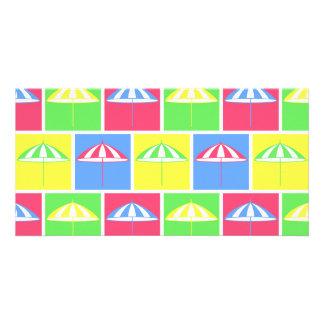 Colorful parasol pattern card