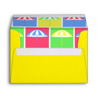 Colorful parasol pattern envelope