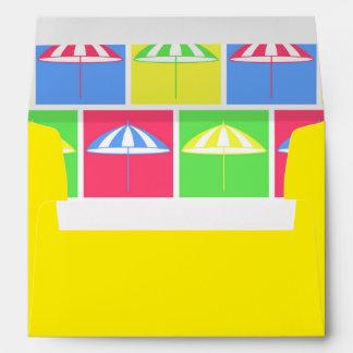 Colorful parasol pattern envelopes